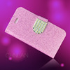2014 Lady's favourate stylish shiny powder rhinestone fancy mobile accessories for iphone5c cases