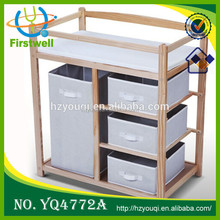 Four Baskets Baby Changing Table Baby Chest of Drawers Change Table