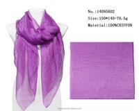 pure purple color scarf solid chiffon female scarfs long summer shawls wraps