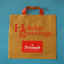 Special printing shopping plastic flexible handle bag
