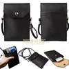 Universal Magnetic Snap PU Leather Pouch Shoulder Phone Bag with strap for iPhone for other mobile phone