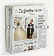 Sigle pocket acrílico periódico estante de exhibición