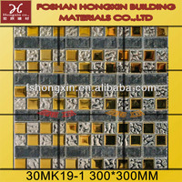 2014 New Products Silver And Painting Glass Mosaic For Backsplash Tile Wholesale
