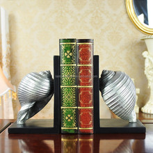 Cute Conch Bookends Holder In Resin Crafts For Desk Decor With Silver