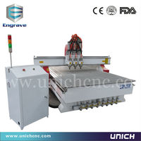 5*10 feet 3 head pneumatic tool changer wood cnc router for sale