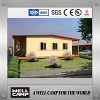 Angola garden house project prefab house T type for hotel holiday house