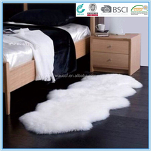 bed side polyester microfiber faux fur sheep skin designer rug