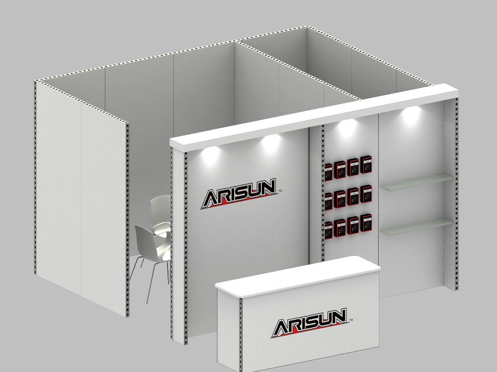Portable Exhibition Booth : Recyclable portable aluminum indoor exhibition booth stand