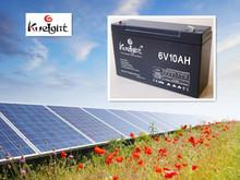 6 volt battery solar backup GEL battery 6v 10ah battery manufacturer