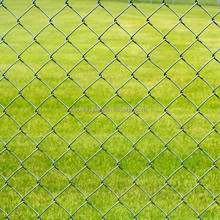 Low price PVC coated chain link fence, Galvanized chain link fence for sale from HeBei factory