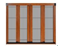 trackless sliding door/aluminum sliding door/retractable screen door