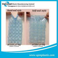 Food grade printing disposable plastic LDPE ice cube bag