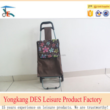 600D large portable folding shopping cart from China