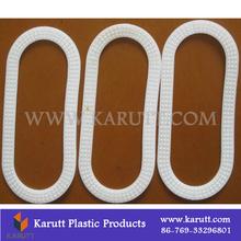 Dongguan laminated plastic PE rice/flour bag handle buckles manufacturer