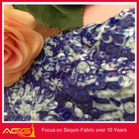 2014 New hot Sequin Pure Silk brocade fabric, decorative african french swiss big leather lace