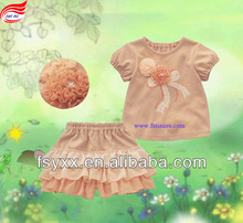 2pcs lace top and skirtpants baby girls clothing set