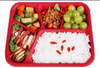 New disposable PP plastic 5 dividers fast food storager box