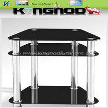 hot sale Living room furniture good quality low price tempering glass stainless steel tv stand