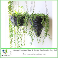 Natural handmade cheap wicker baskets hanging basket for plants