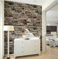 10M waterproof decorative brick 3d pvc wallpaper home decor for kitchen and bathroom