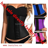 walson wholesale High Quality waist reducing corset tummy control latex waist cincher directly factory