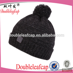 Acrylic Knitted Hat With Embroidery Including Jacquard Patterns Beanie Hat