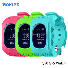 Wonlex SOS Function kids gps watch Q50 gps tracking watch gps tracker bracelet with high quality