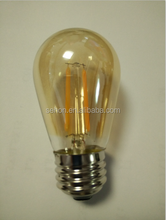 alibaba china s14 led bulbs e27 retro golden cover led filament bulbs dimmable 2w led glass lamps