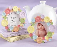 """""""Cute as a Button"""" Round Photo Frame / Placecard Frame"""