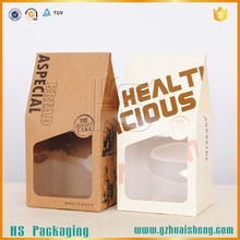 kraft paper/coffee bags paper packaging with window