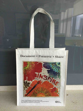 durable high quality grocery recycled CMYK printing and lamination PP woven shopping bag