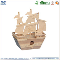 Wooden miniature toy sailing ship models, wooden model ships for sale