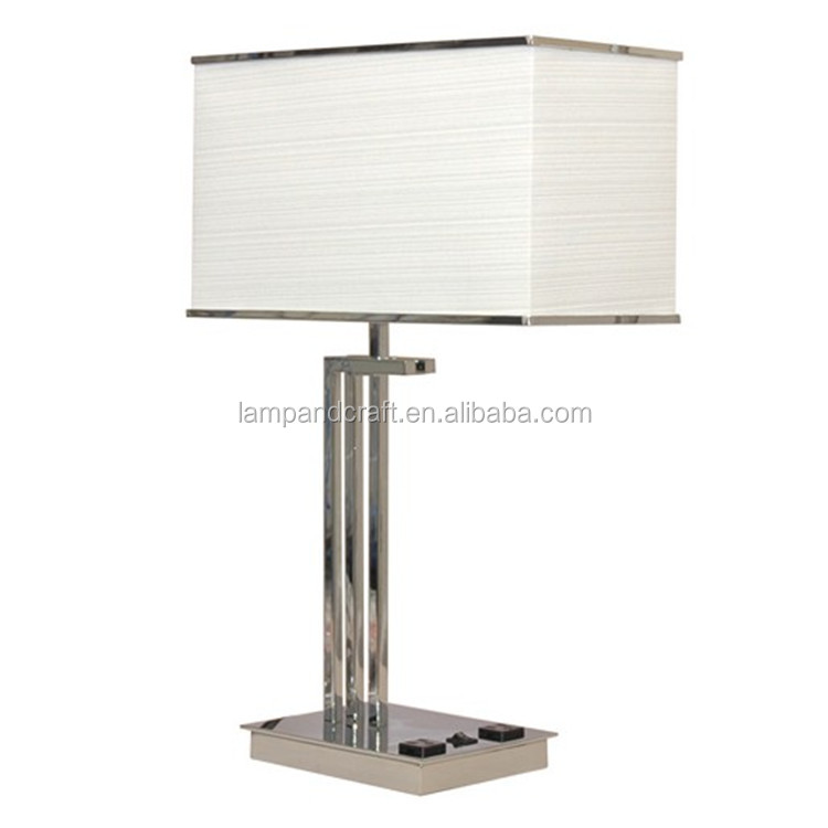 lamp set ul cul metal table lamp with usb port and power outlet in the. Black Bedroom Furniture Sets. Home Design Ideas