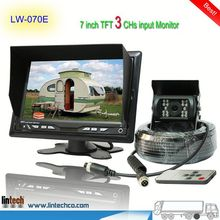 China supplier - 7 inch waterproof night vision rear view camera for renault megane (LW-070E)