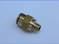 Air-Fluid Pneumatic Brass Male Connect Fitting AJPC08-1/8