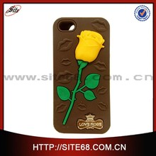 Rose kiss sweat design mobile phone silicone case for iphone 6 4.7 inch