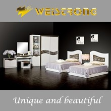 Weistrong modern white coloe 1.2*1.9m single child bed bedroom furniture ikea made in China