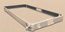 Elegant Gold And Silver Color Aluminum Case For Samsung 5