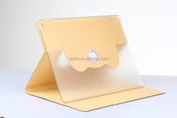 Diamond Rotation Pattern Ultra-thin 360 Rotating Bracket Case For iPad Pro 12.9 - Gold