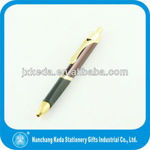 2014 trangle copper ballpoint pen with soft feel rubber grip