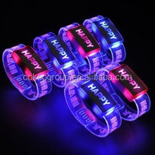 Event and concert supplies for light up LED remote bracelet, top selling LED flashing bracelet, RC color change L/light bracelet