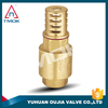 jis standard check valve nicekl-plated cast brass body with compression three way with check valve forged Dn 50 and CE
