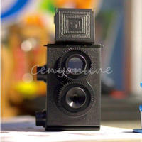 High Quality DIY Black Classic Play Hobby Twin Lens Reflex TLR 35mm Holga for Lomo Camera Kit Outdoor Travel Photograph
