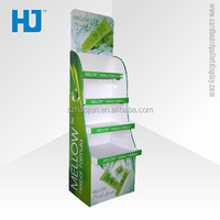 Custom design mac cosmetic make up display counter, cardboard pallet display stand for skin care product