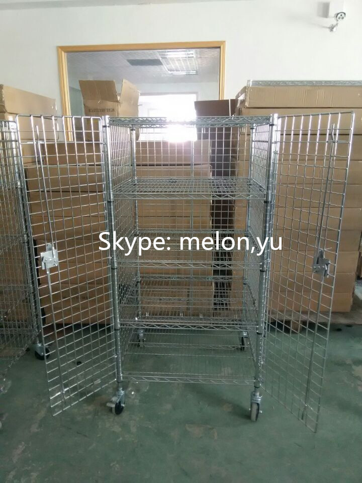 Stainless Steel 304 Sliding Door Wire Shelving Security Cage/rack ...