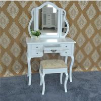 Makeup dresser dressing table design with mirror wood bedroom furniture