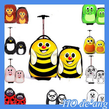 HOGIFT 2015 high quality cool children trolley luggage /children school bag/ kids plastic suitcase