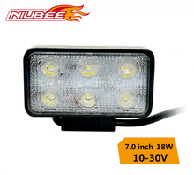 4.3' 18W car led light motorcycle for sale,spot and flood beam optional