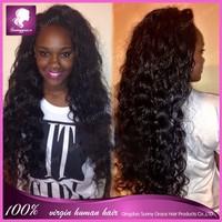Unprocess 6a grade virgin human hair afro kinky curly Brazilian remy hair short human hair full lace wig for black women