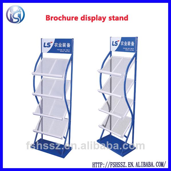 Metal magazine display stand, brochure stand